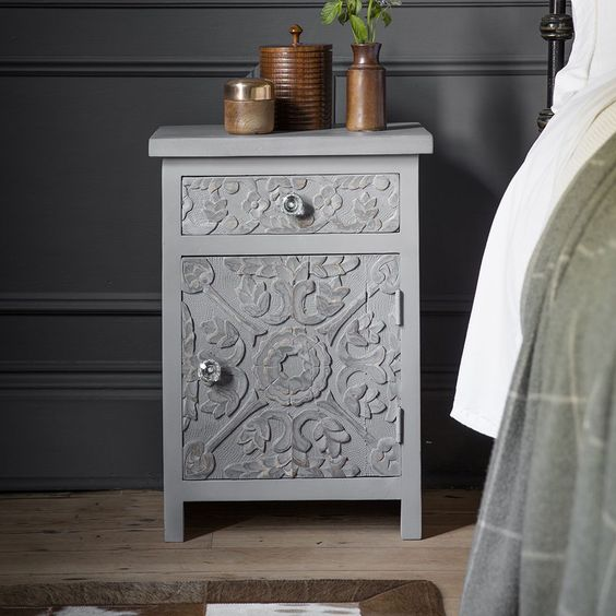 Carved Nightstand