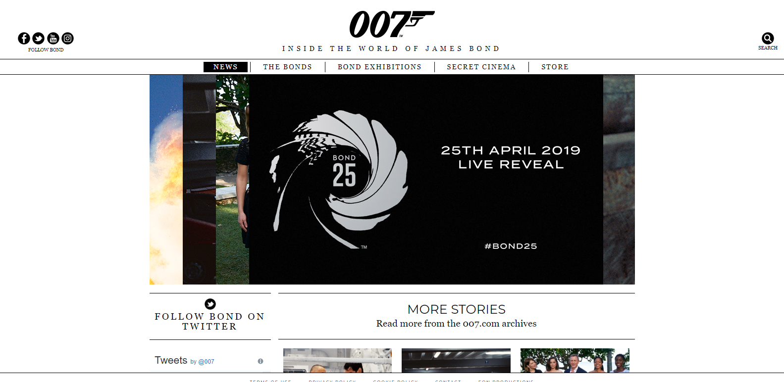 image of james bonds wordpress website