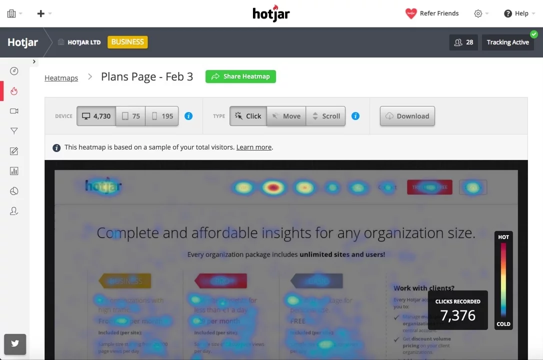 Hotjar Screenshot - Insight Platforms