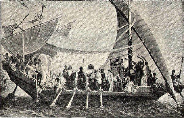 C:\Users\NF\Desktop\ΝΑΥΜΑΧΙΑ ΑΚΤΙΟΥ, CLEOPATRA in her Queen Ship Galley ''Antonia'' Η Κλεοπάτρα στή βασιλική ναυαρχίδα γαλέρα της.JPG