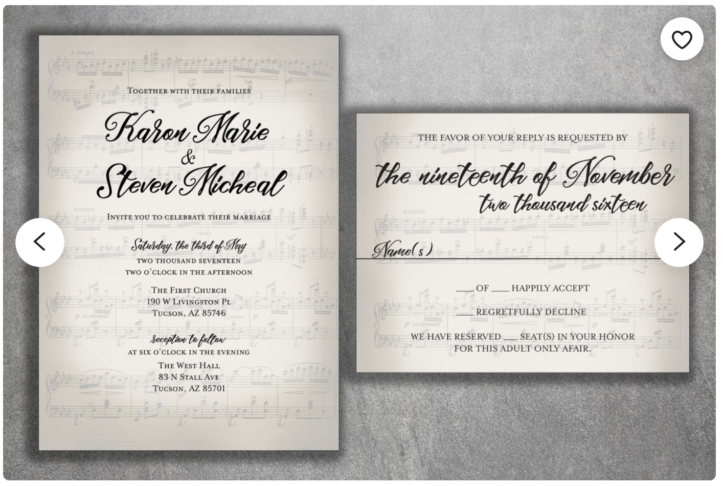 musical invitation