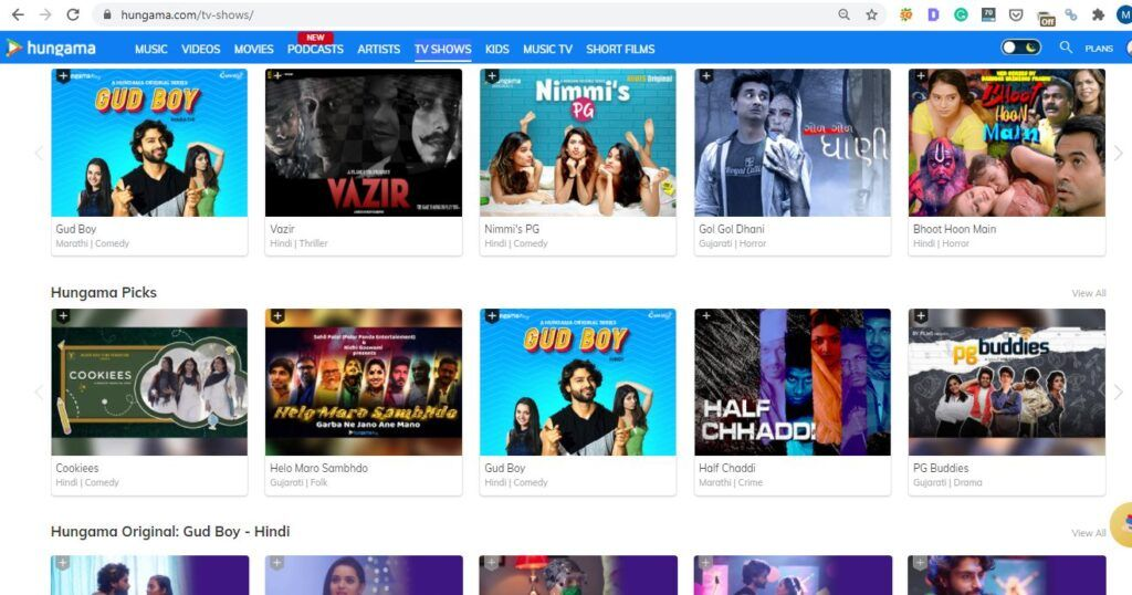 Hungama Play TV Shows