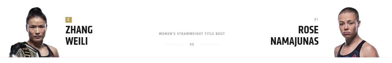UFC 261: Weili vs. Namajunas