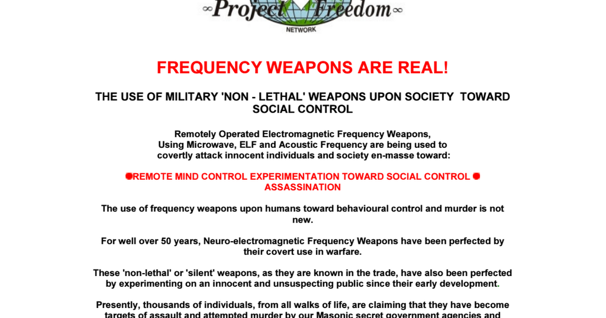 Frequency WeaponsMind Control PDF - Google Drive
