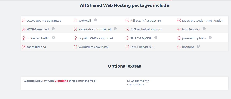 Xneelo shared hosting