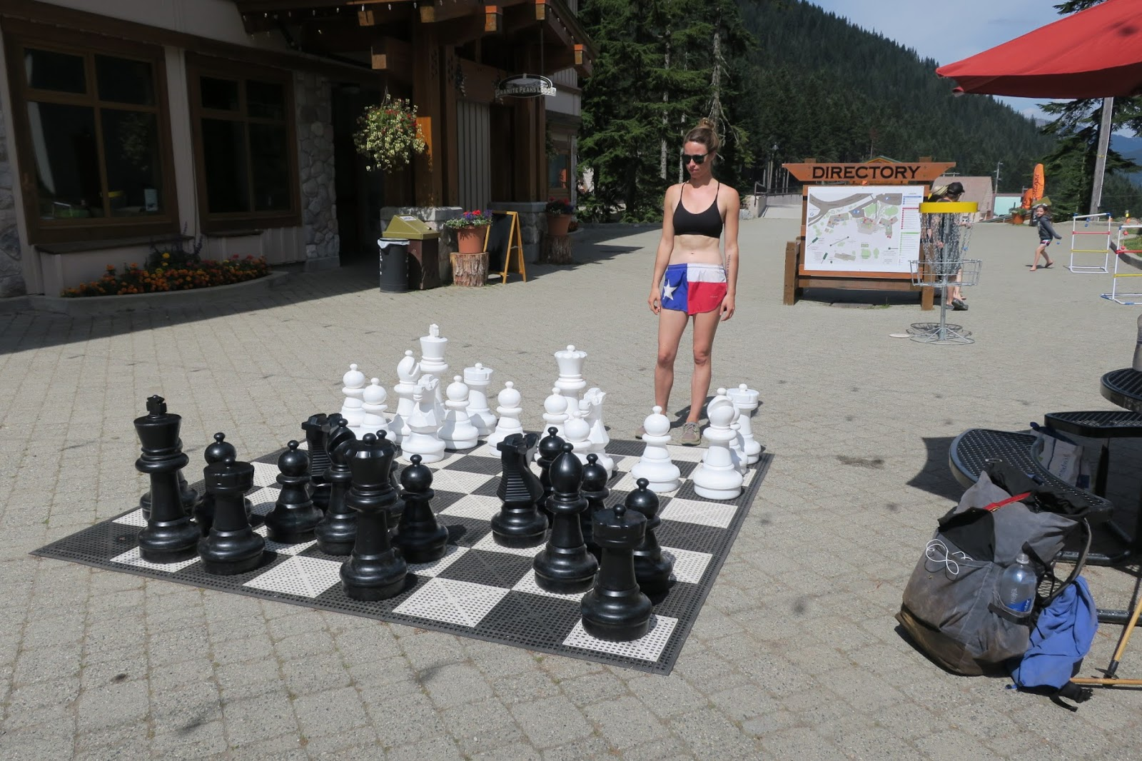 Giant chess board at Stevens Pass, Washington