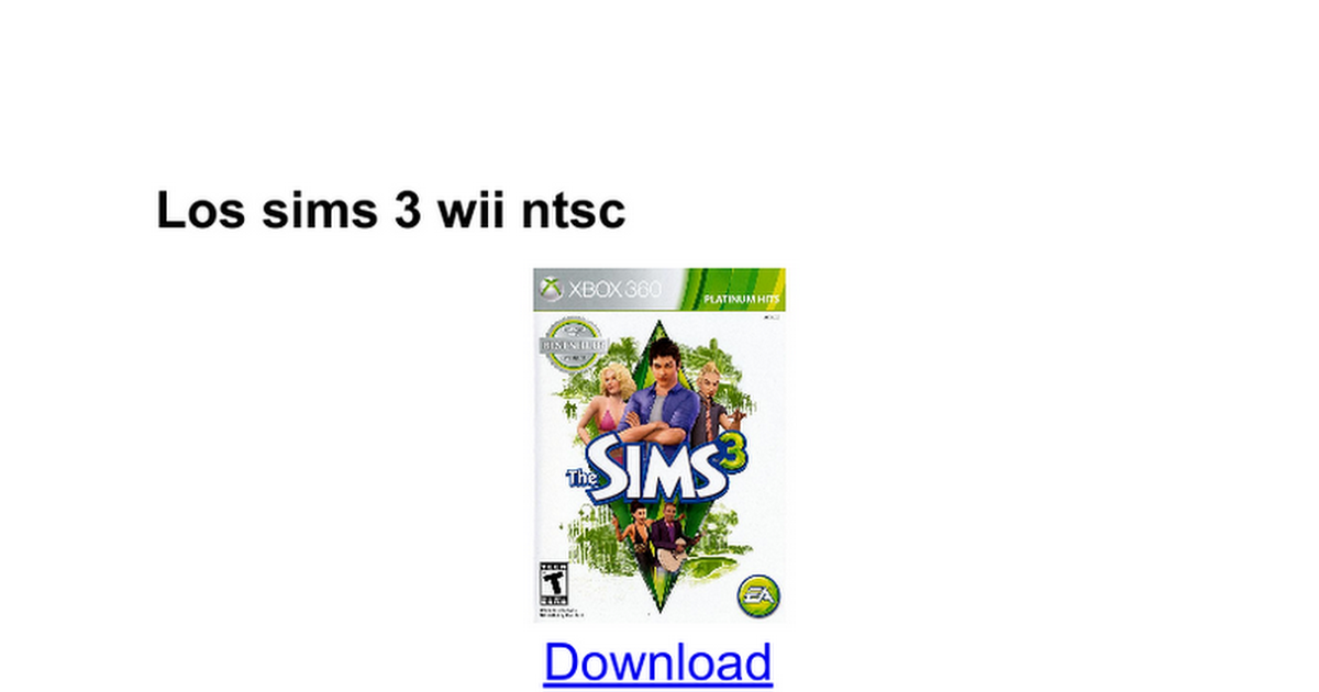 the sims 3 complete edition torrent download