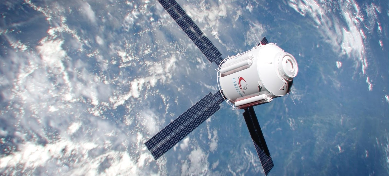 A satellite in space  Description automatically generated with medium confidence