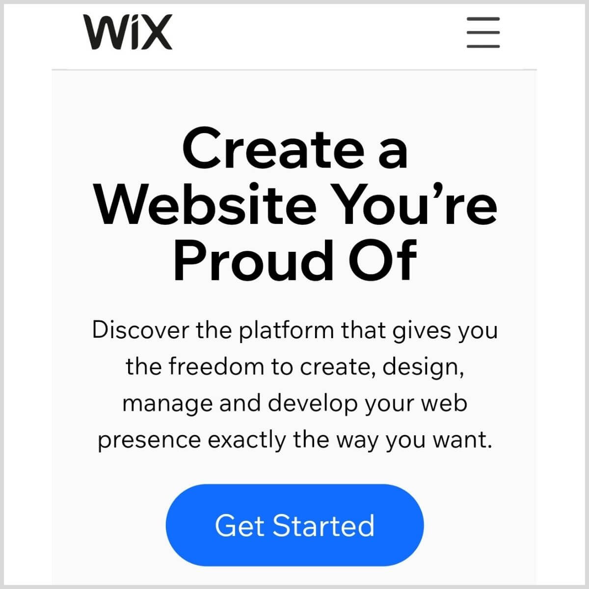 Wix frontpage