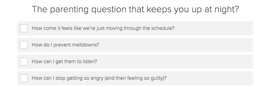 what parenting question keeps you up quiz question