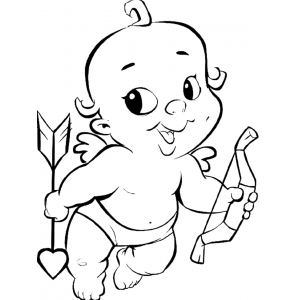 Dibujos de Cupido para Colorear, parte 3