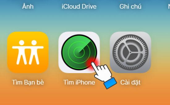 Hướng dẫn tìm iPhone với tài khoản iCloud