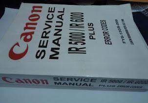 .Buku service manual canon ir 5000 dan ir 6570.