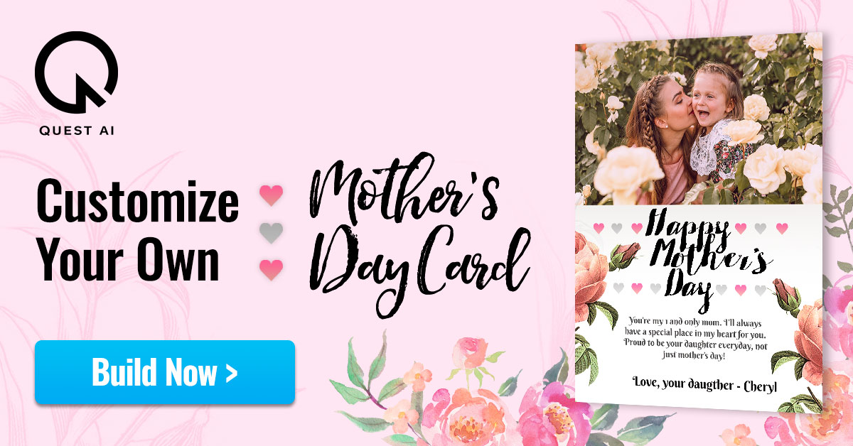 Build custom Mother's Day Card