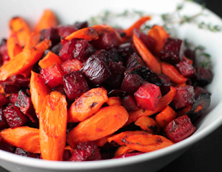 Organic maple roasted beets and carrots by Living Juice