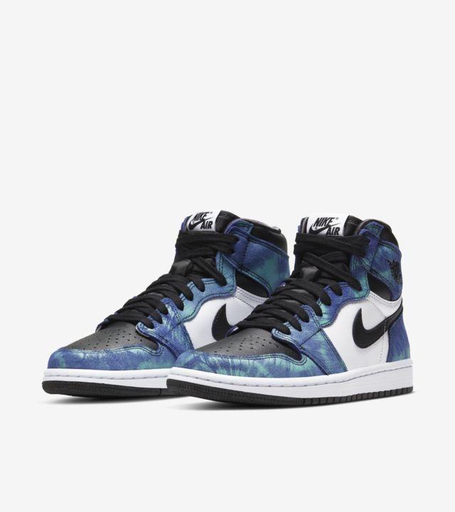 """""""Air Jordan 1 Mid Tie Dye (W)"""" รองเท้าสีมัดย้อมของผู้หญิง 05"""