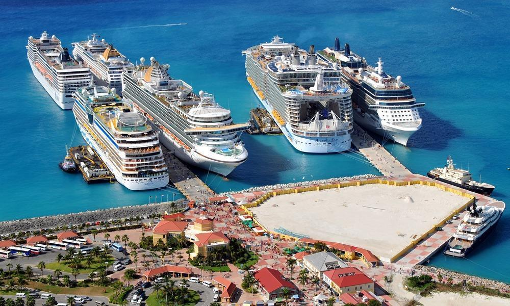 Philipsburg (St Maarten Island, Dutch Antilles) cruise port ...