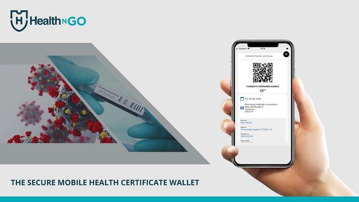 interface du projet Suisse de passeport santé