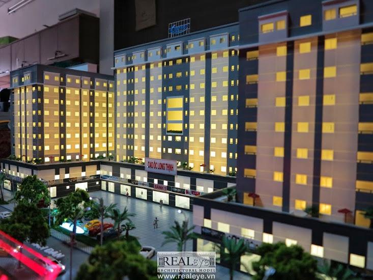 Mô hình kiến trúc REALEYE - Không gian mỗi chính mỗi phòng đều hướng ra ánh sáng bên ngoài
