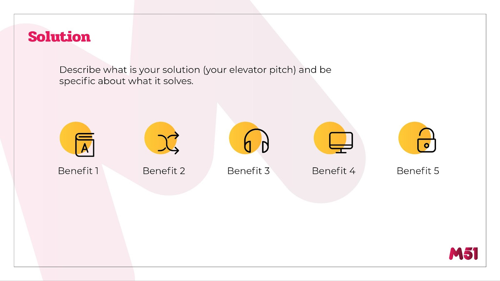 m51 Pitch Deck Outline: Solution
