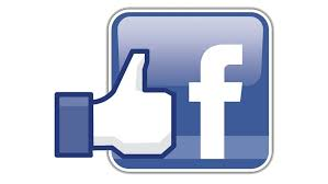 blue and white facebook logo with white thumbs up