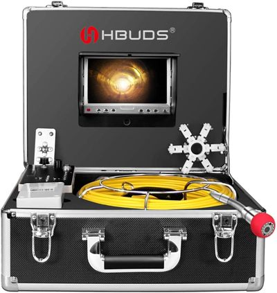 IHBUDS Sewer Camera 50M/165ft Cable Pipe Inspection Camera