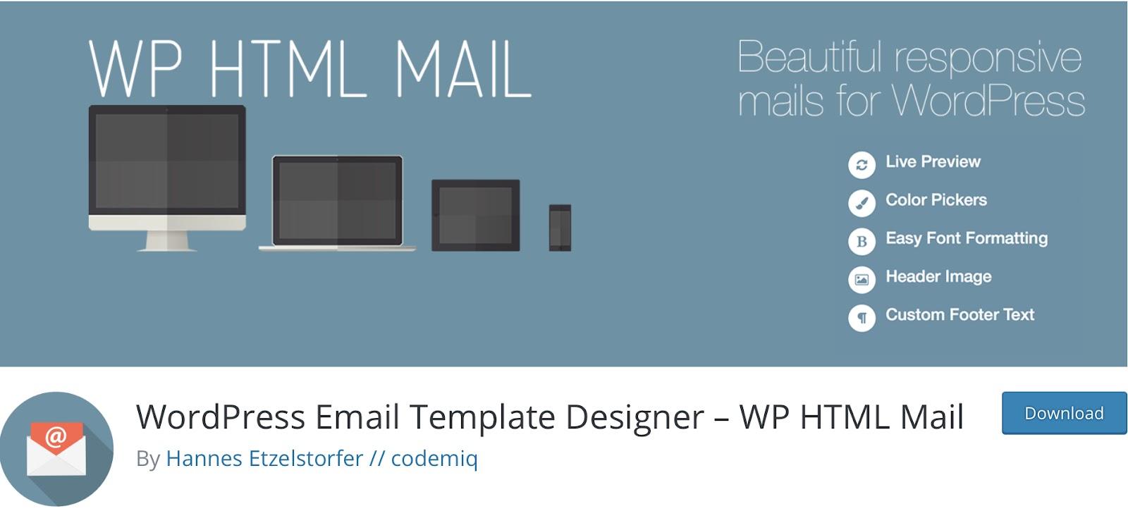 WP HTML Mail
