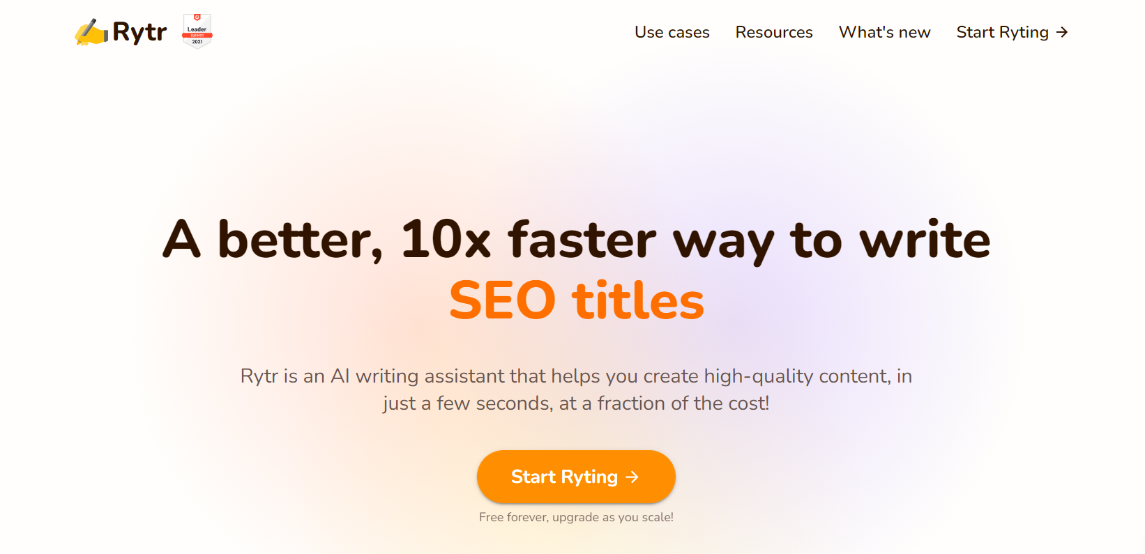 Ryter.com blogging tool for newbie cannabis writers homepage screenshot.