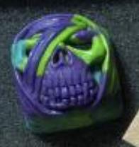 Artkey - Purple & Green Mumkey