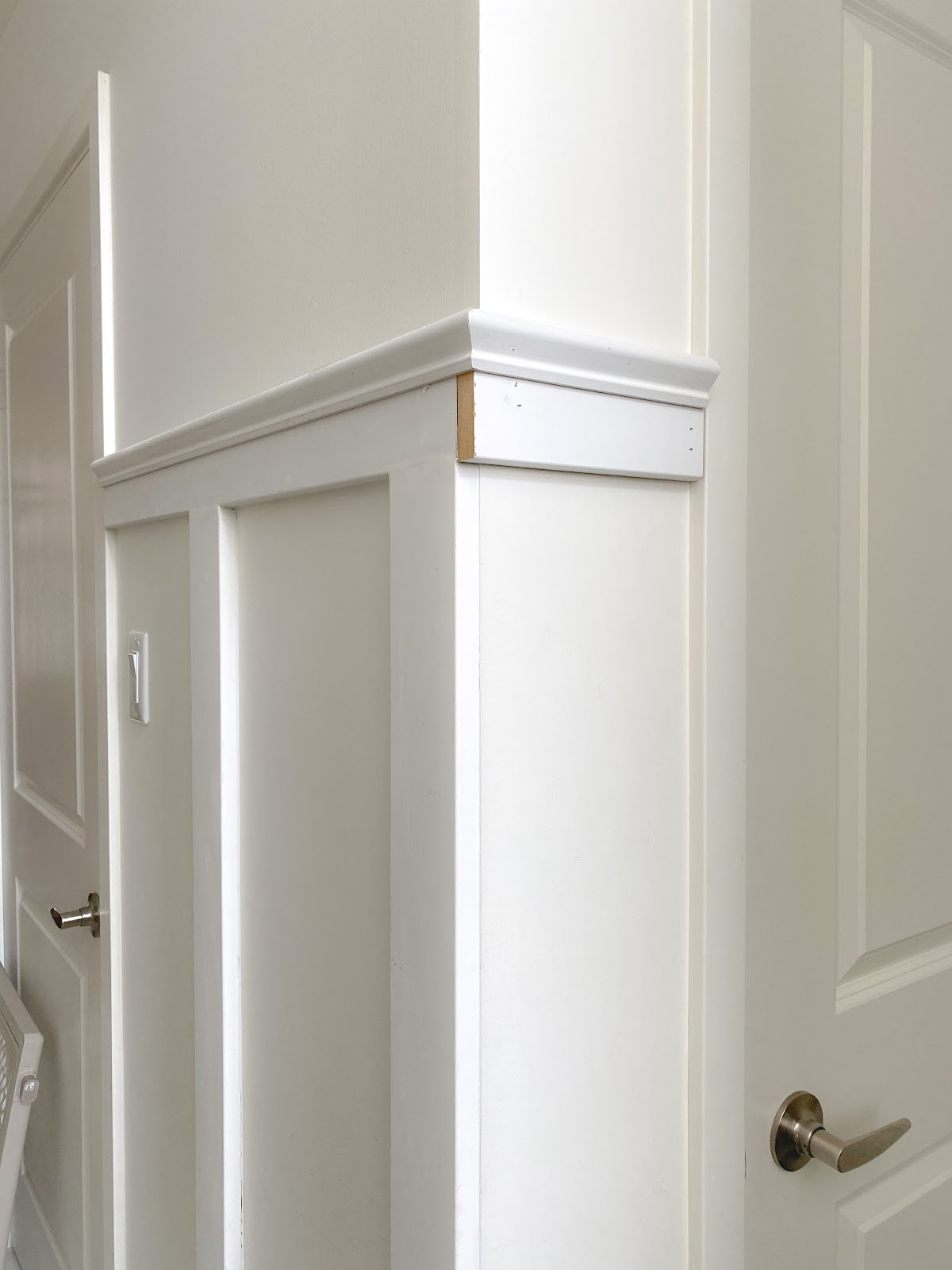 These corner cuts for board and batten give it the professional finish