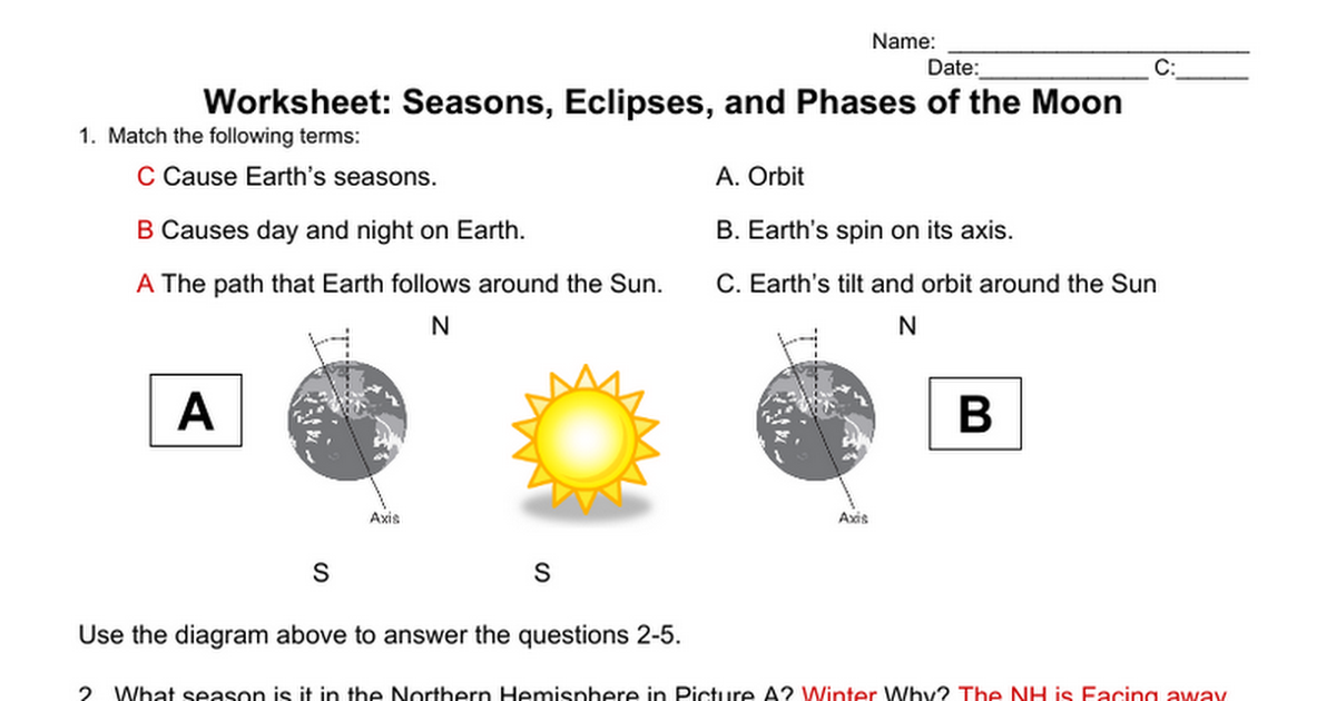 worksheet seasons eclipses phases of the moon answers google docs. Black Bedroom Furniture Sets. Home Design Ideas