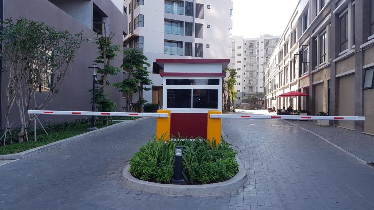 Sử dụng barie tại cổng khu chung cư