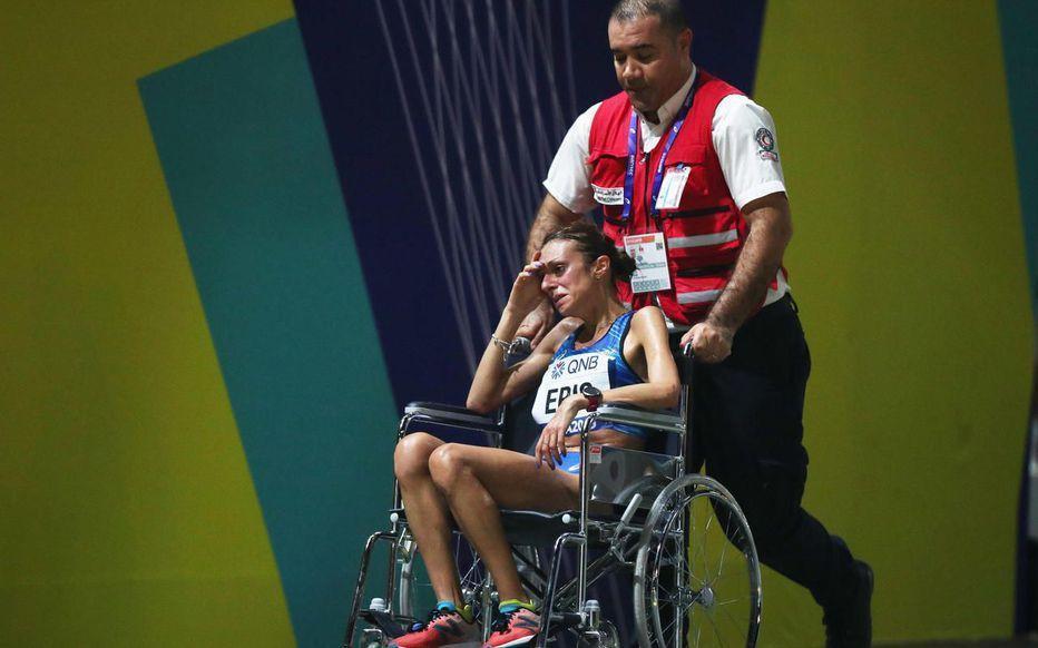L'Italienne Giovanna Epis fait partie des nombreuses athlètes contraints de s'arrêter avant la fin de la course