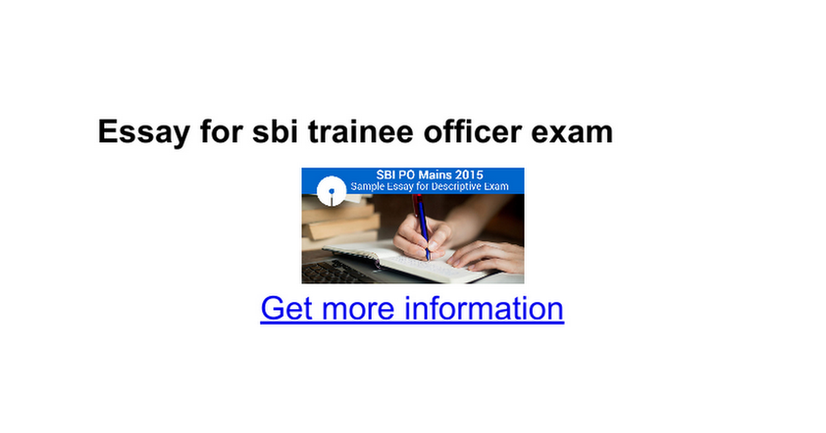 SBI PO      Mains Exam Pattern Changed