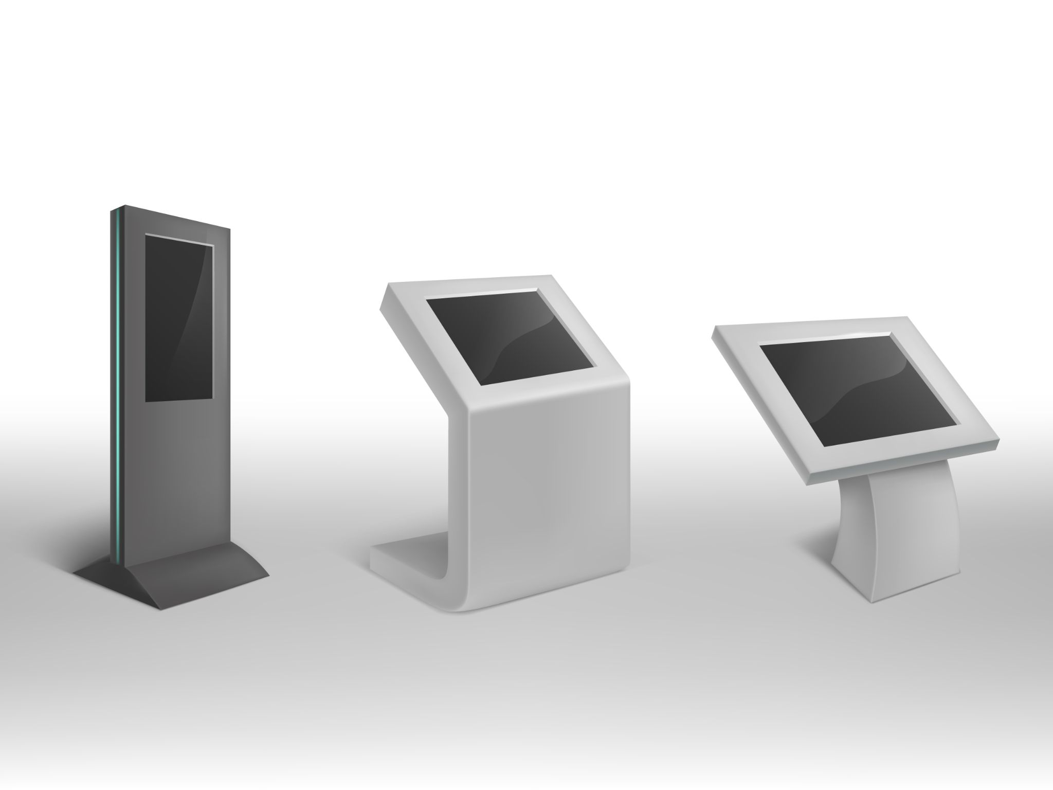Different screen sizes of digital kiosks. Source: Freepik. Infrared vs Projected Capacitive - Rev Interactive