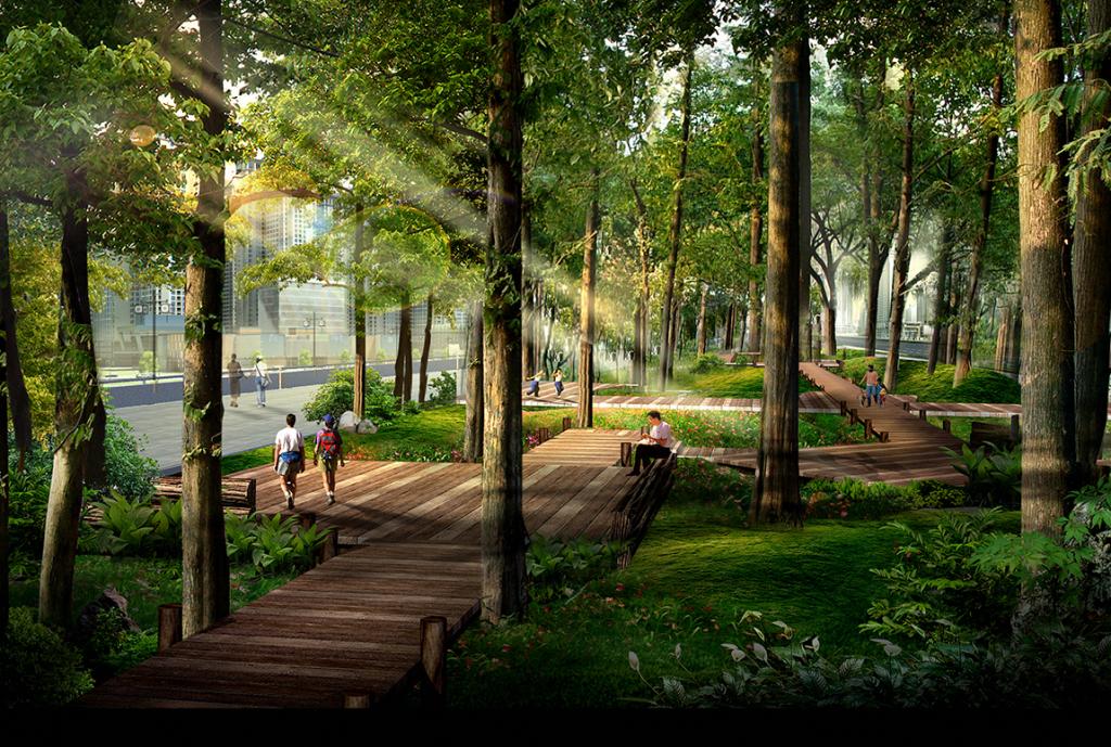 Công viên cây xanh tại Goldmark City