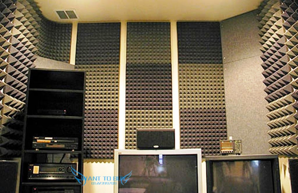 Ktv Studio Pyramid Acoustic Foam Panel Sound Absorption
