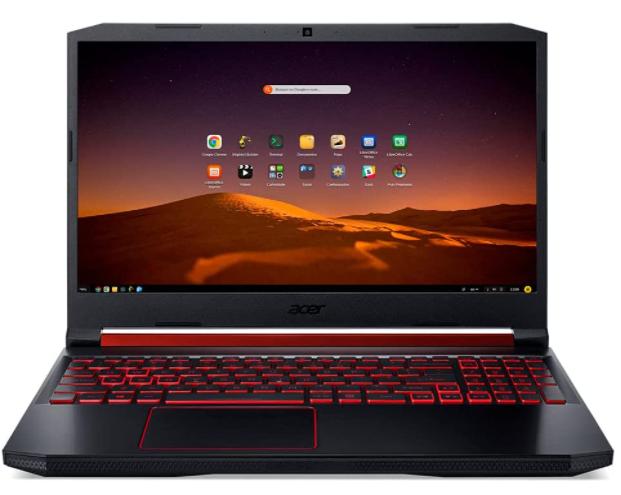 Imagem de notebook da marca Acer e modelo Gamer Nitro 5