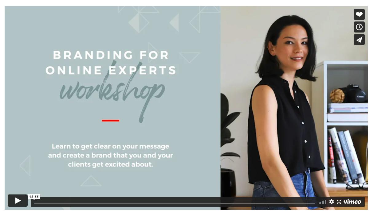 screenshot of branding workshop video