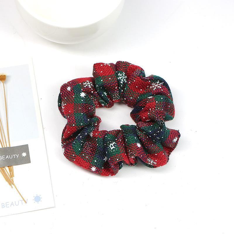 Christmas Plaid Scrunchie
