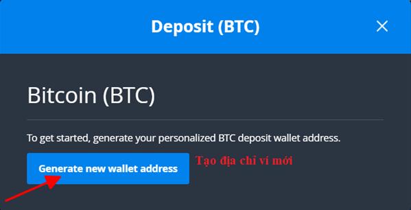 Generate new wallet address