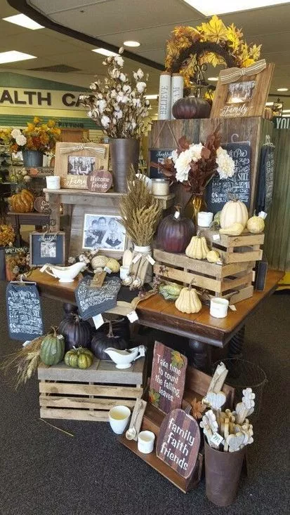 crates as a display
