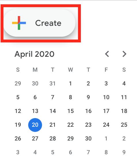 create event icon on google calendars