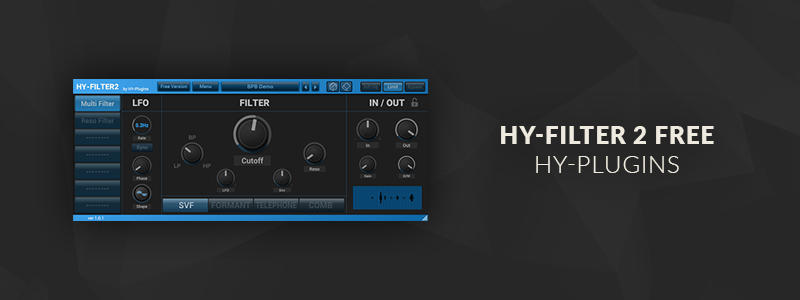 HY-Filter2 Free by HY-Plugins (Windows, Mac OS)