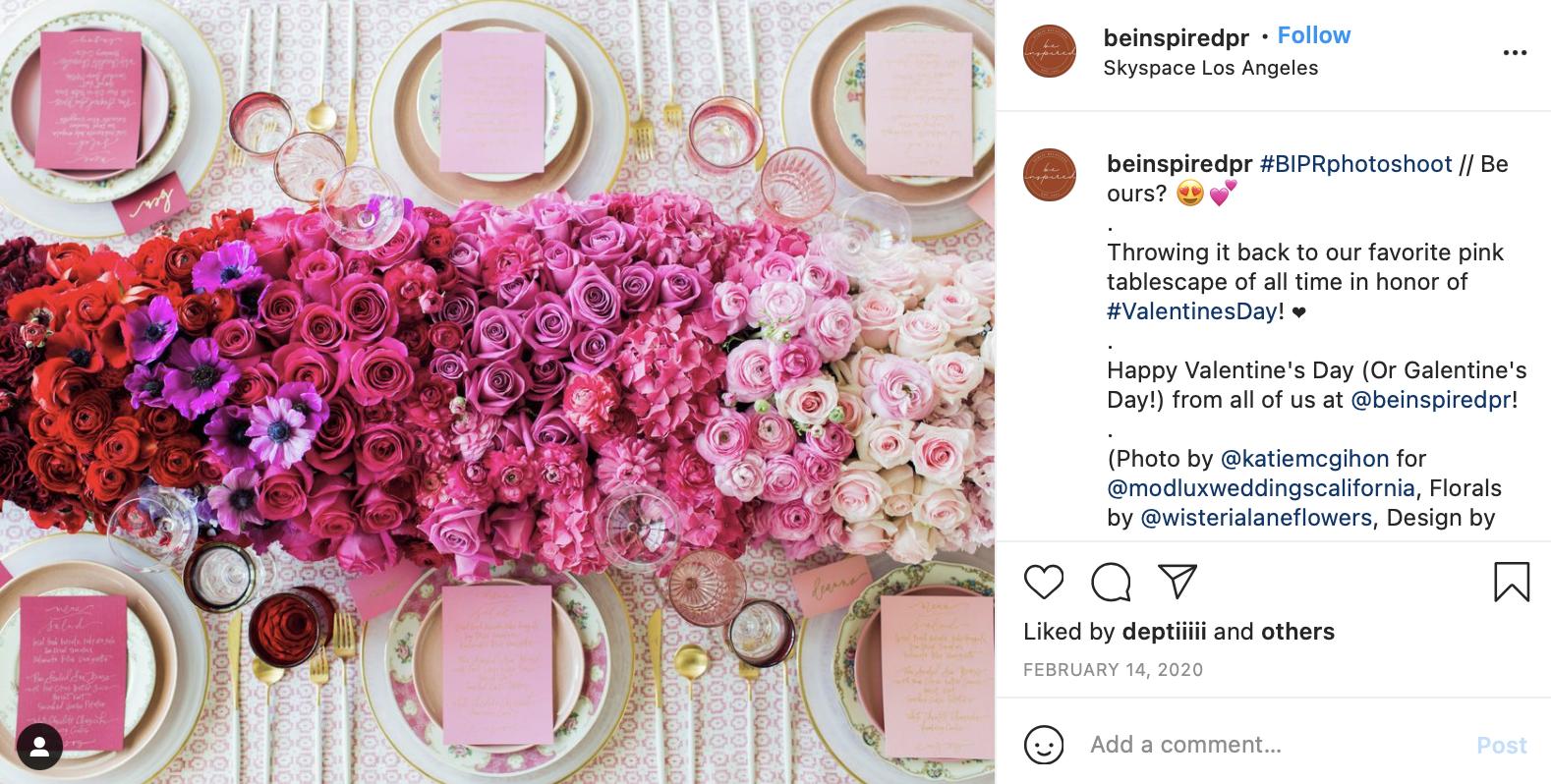 pink gradient wedding florals