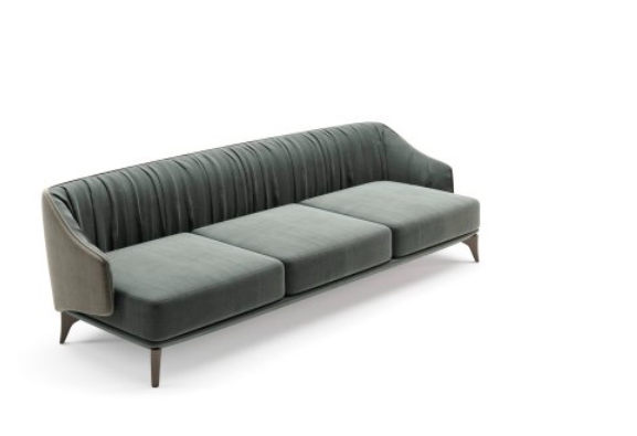 A couch with a white background  Description automatically generated with low confidence
