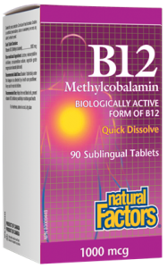 Natural Factors B12 Sublingual tablets