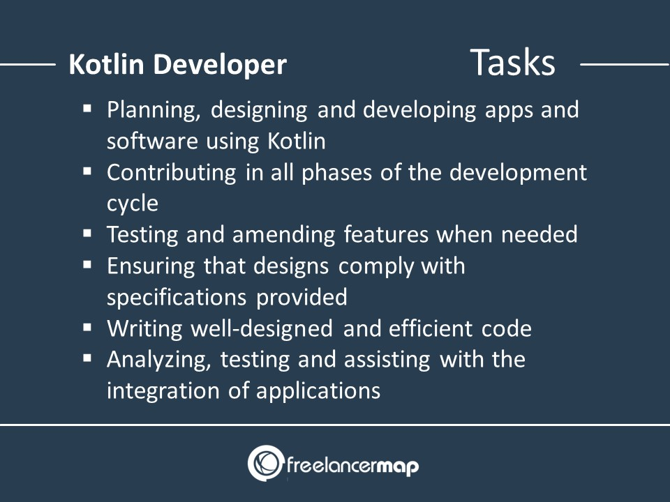 Responsibilities of a Kotlin Developer