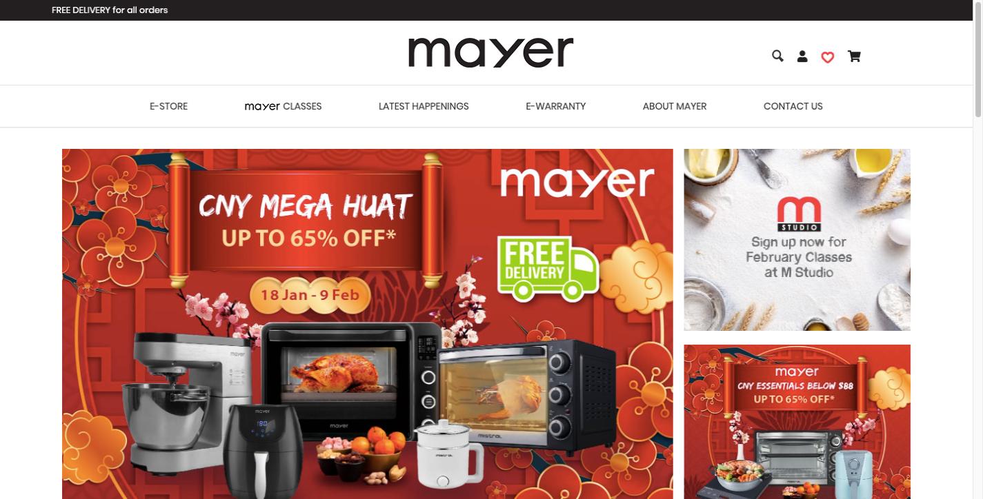 Mayer ecommerce website design
