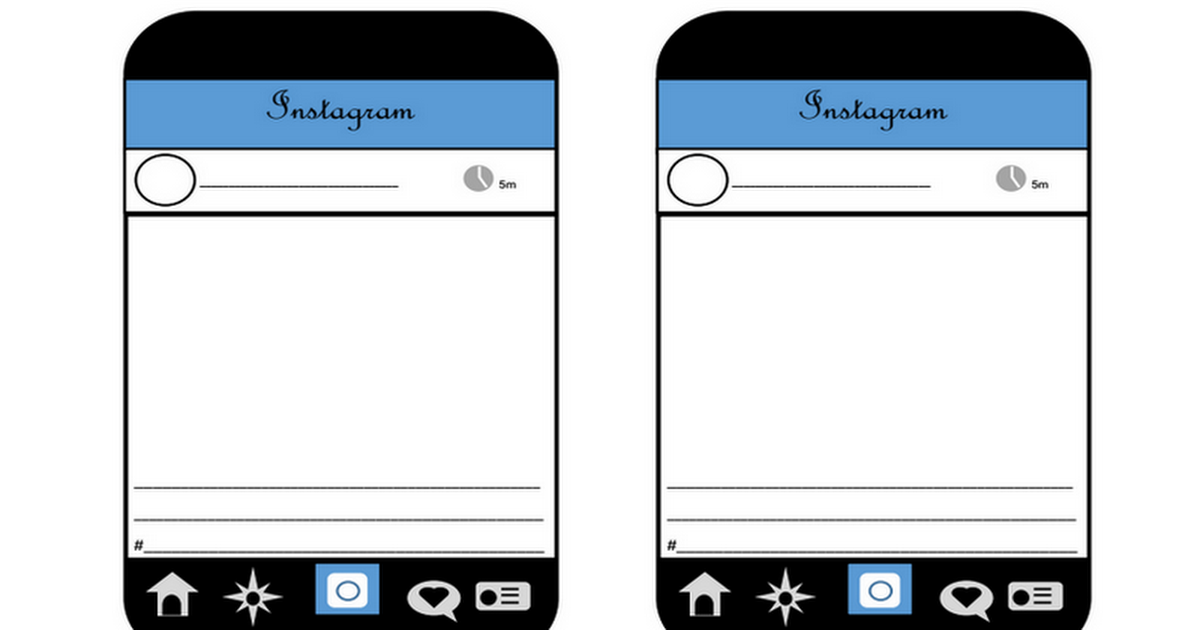 Instagram Template Google Docs